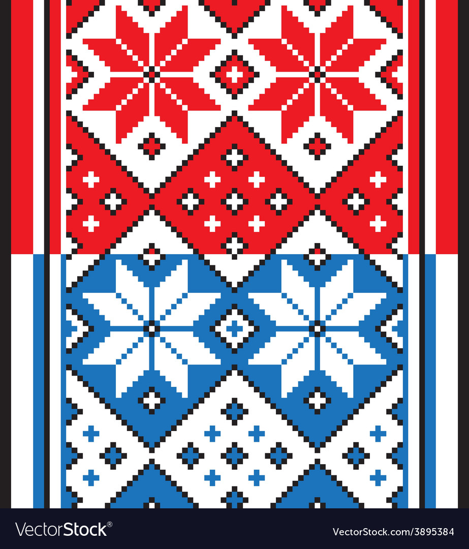 Belorussian ethnic ornament seamless pattern vector | Price: 1 Credit (USD $1)