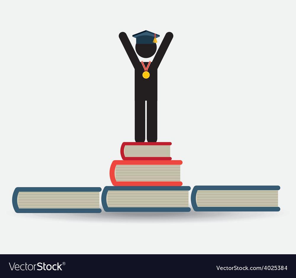 Graduation concept vector | Price: 1 Credit (USD $1)