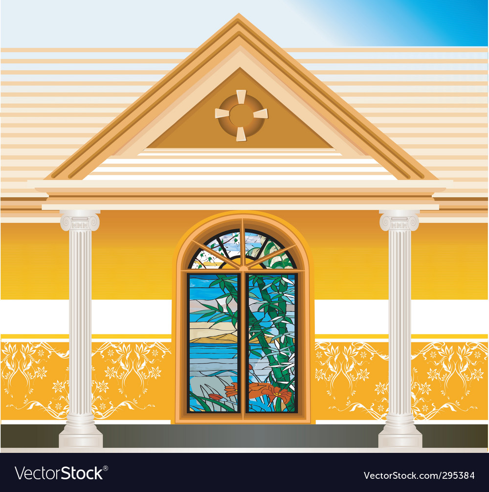 House or villa vector | Price: 1 Credit (USD $1)