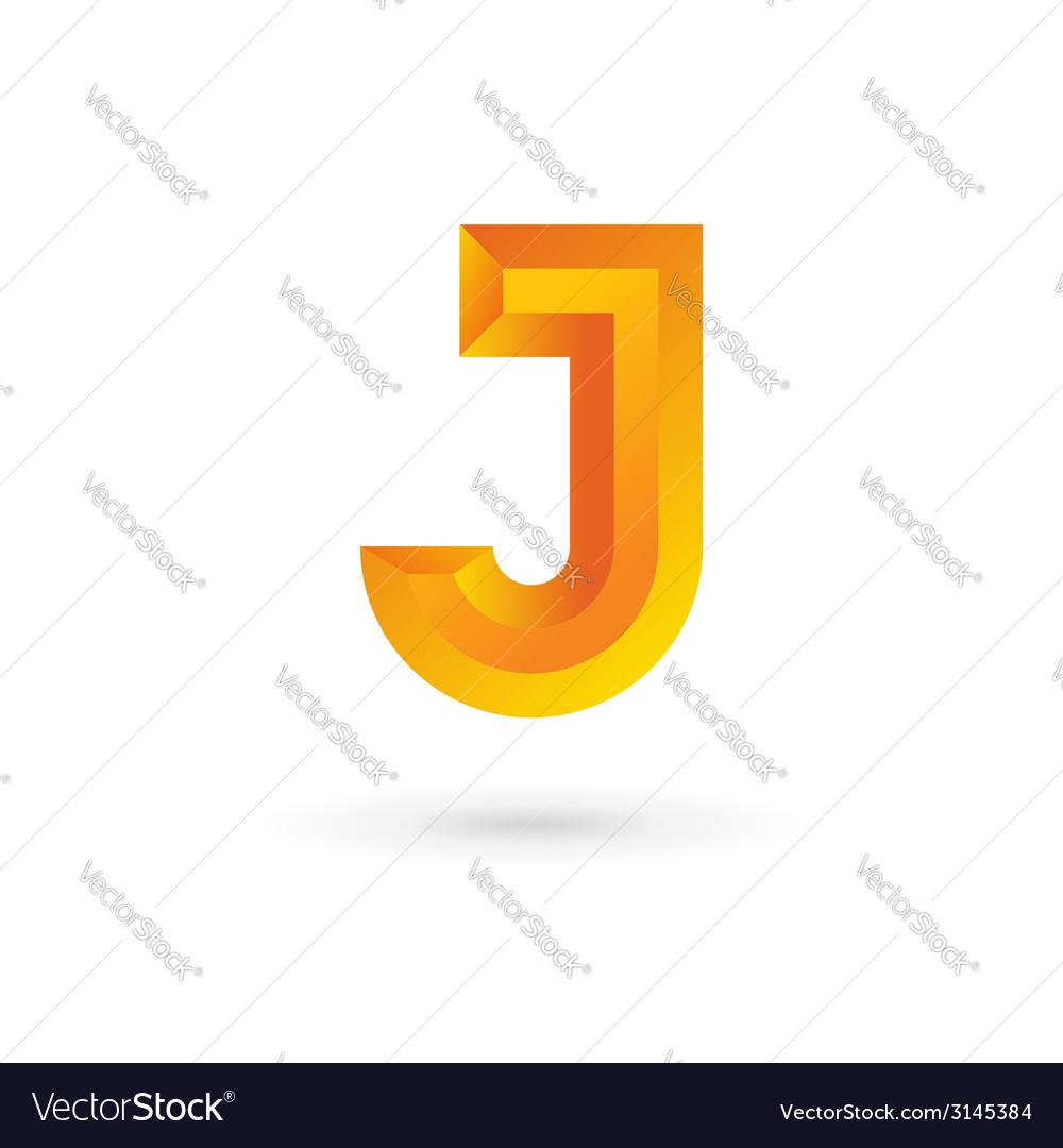 Letter j logo icon design template elements vector | Price: 1 Credit (USD $1)