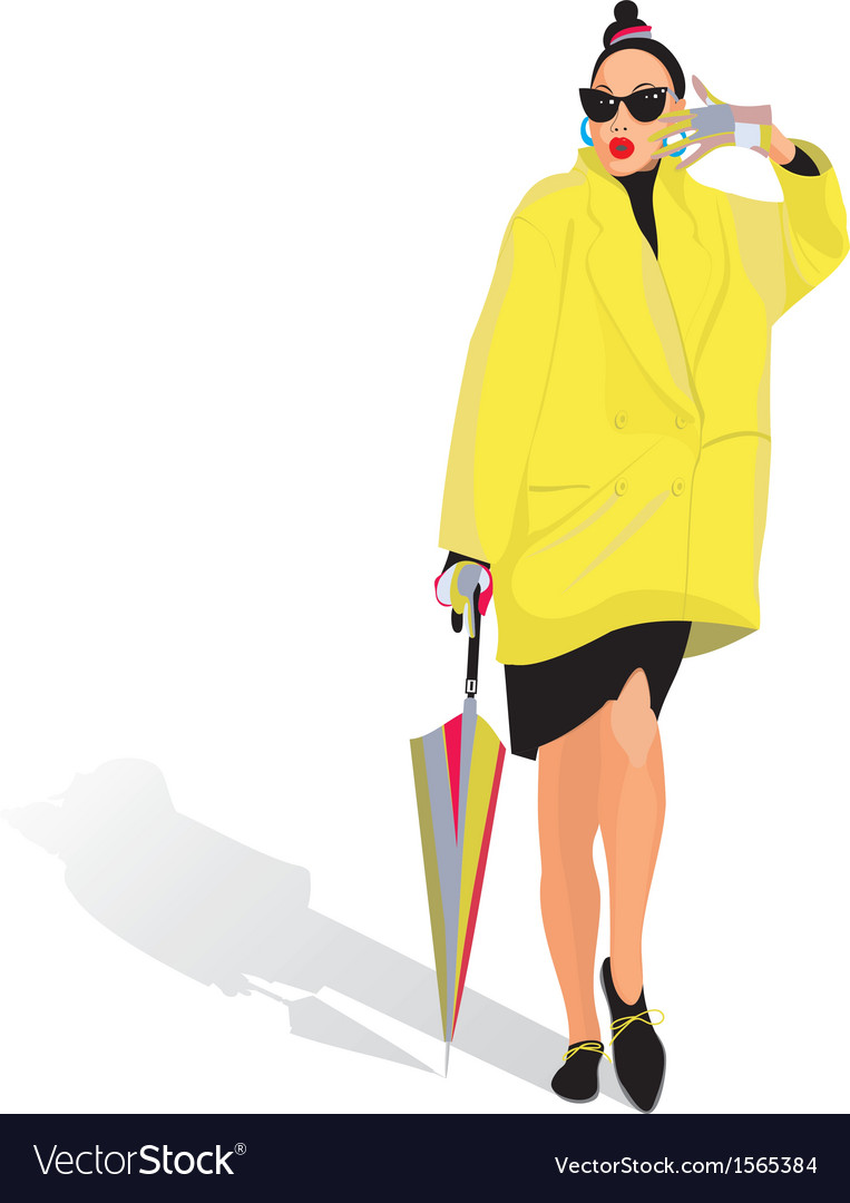 Pretty woman vector | Price: 1 Credit (USD $1)