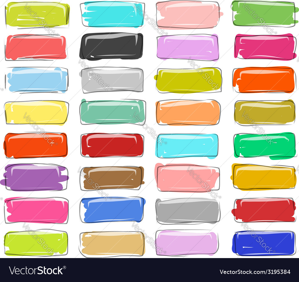 Set of buttons sketch for your design vector | Price: 1 Credit (USD $1)
