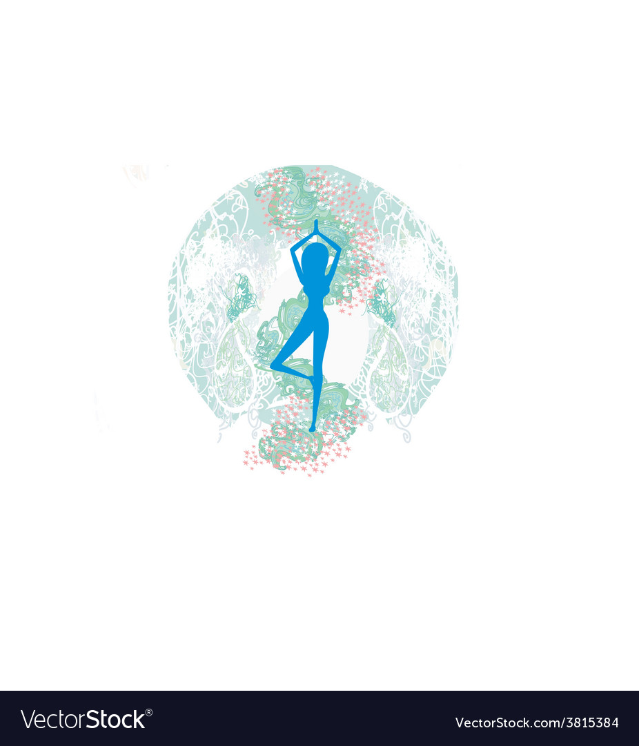 Woman in a traditional yoga pose vector   Price: 1 Credit (USD $1)