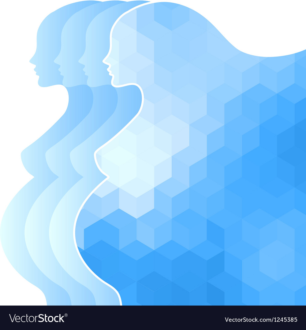 Background with silhouette of pregnant woman vector | Price: 1 Credit (USD $1)
