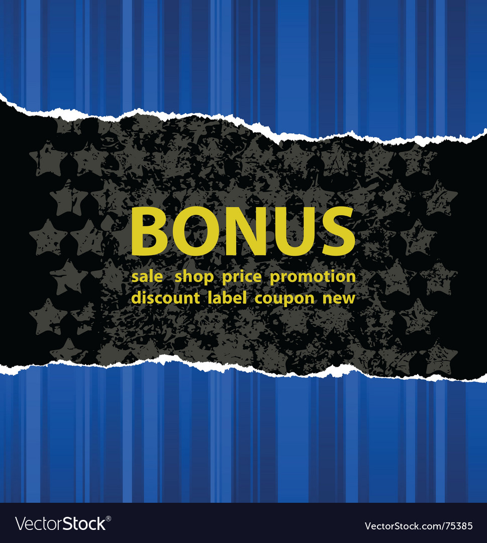 Blue bonus vector | Price: 1 Credit (USD $1)