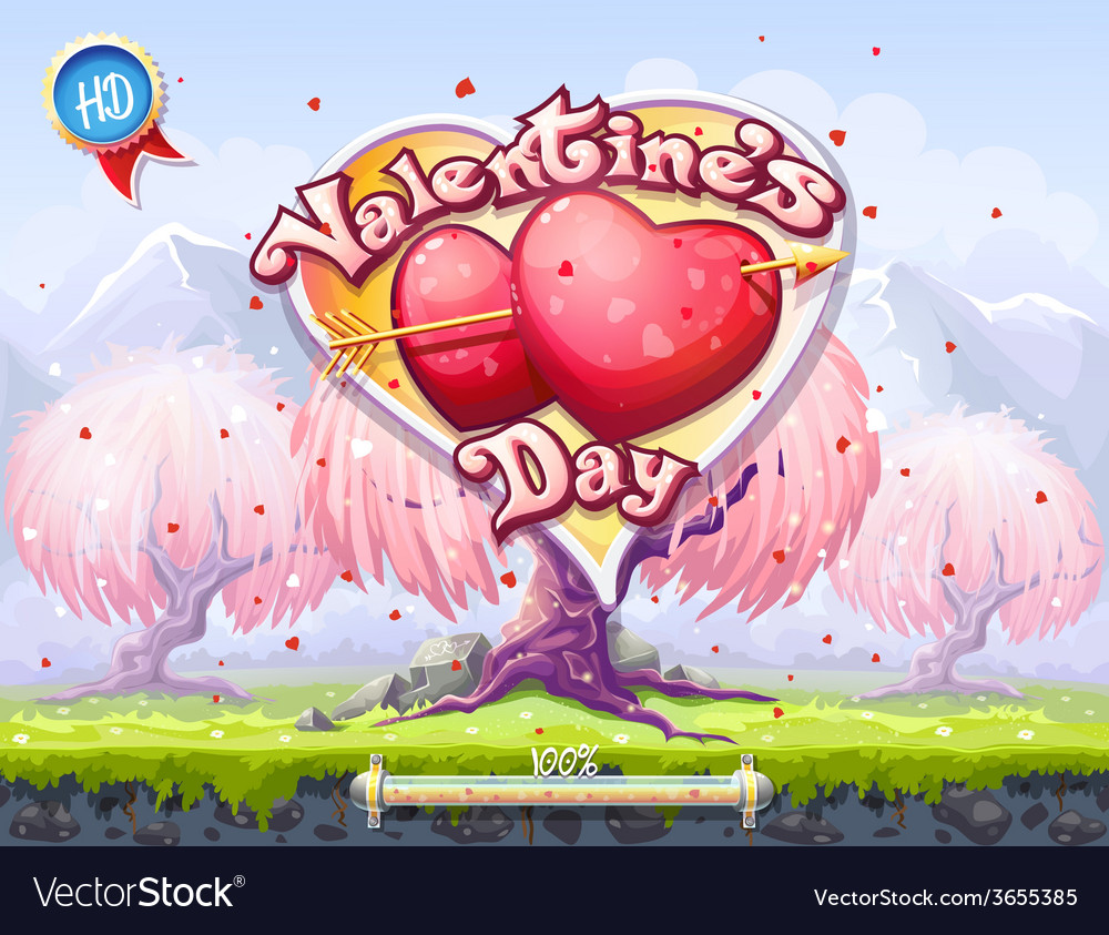 Boot screen the theme of valentines day vector | Price: 3 Credit (USD $3)
