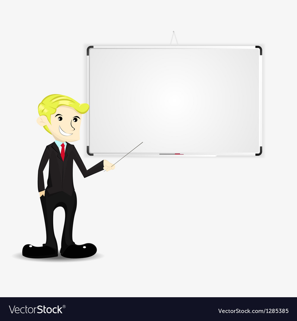 Businessman with blank board vector | Price: 1 Credit (USD $1)