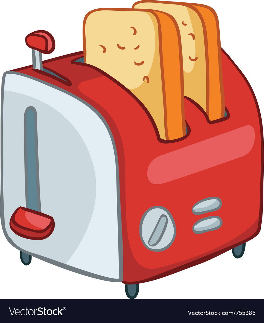 Cartoon home kitchen toaster vector | Price: 1 Credit (USD $1)