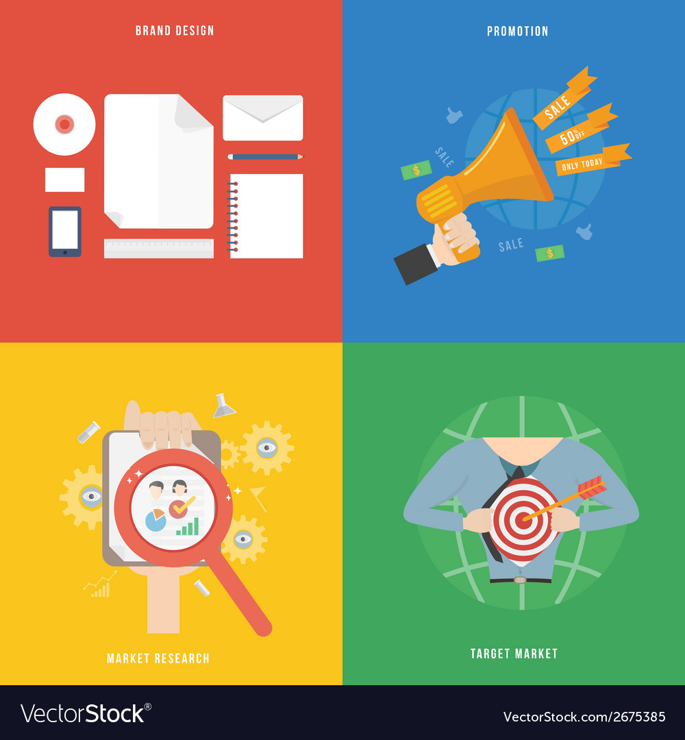 Element of marketing concept icon in flat design vector | Price: 1 Credit (USD $1)