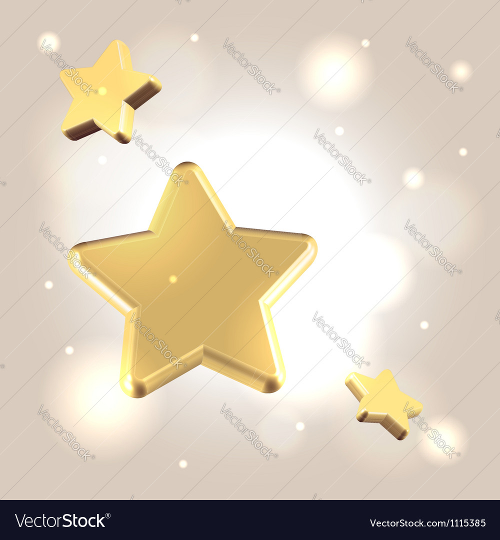 Golden starry background vector | Price:  Credit (USD $)