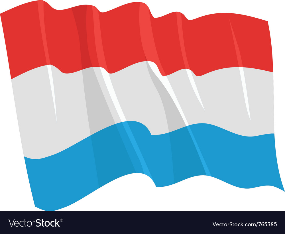 Political waving flag of luxemburg vector | Price: 1 Credit (USD $1)