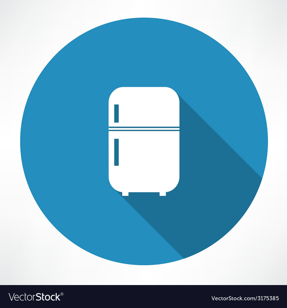 Retro refrigerator icon vector | Price: 1 Credit (USD $1)