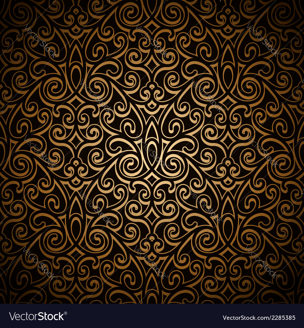 Vintage gold pattern vector | Price: 1 Credit (USD $1)