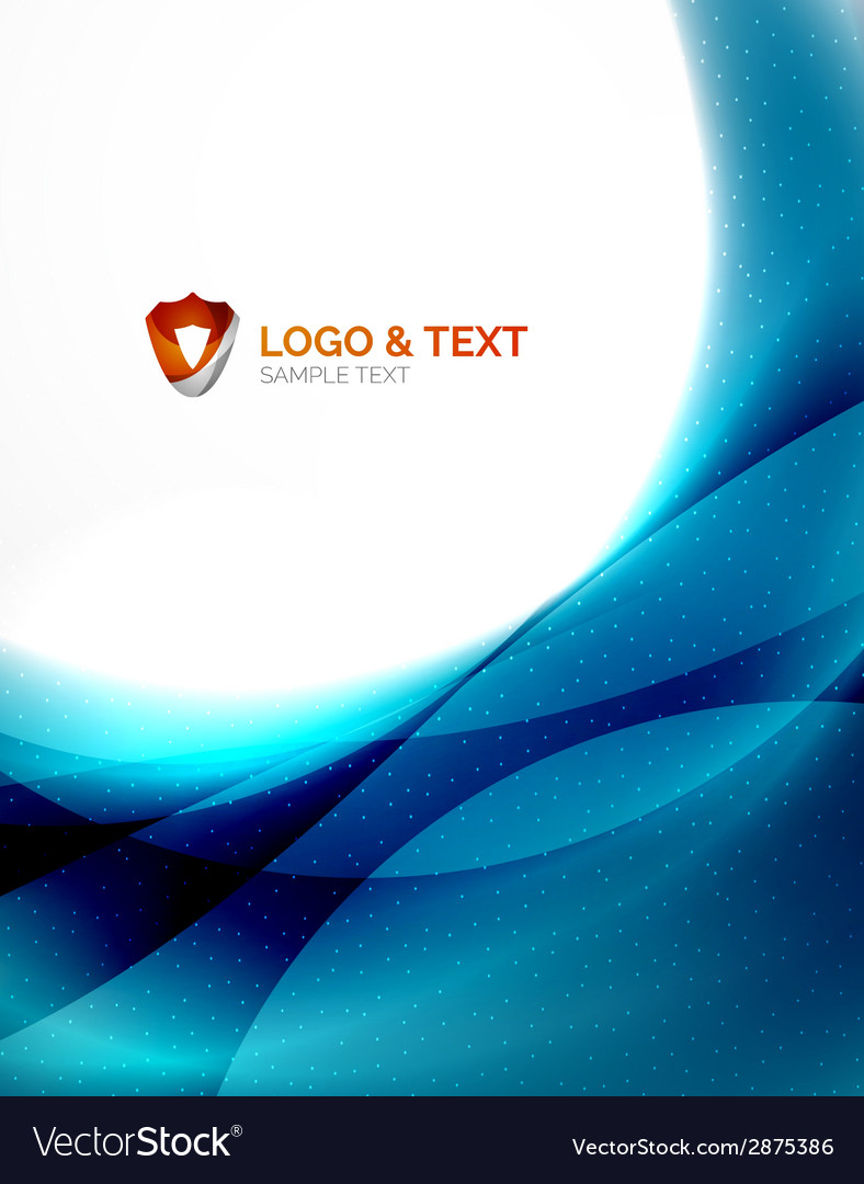 Blue futuristic wave unusual background vector | Price: 1 Credit (USD $1)