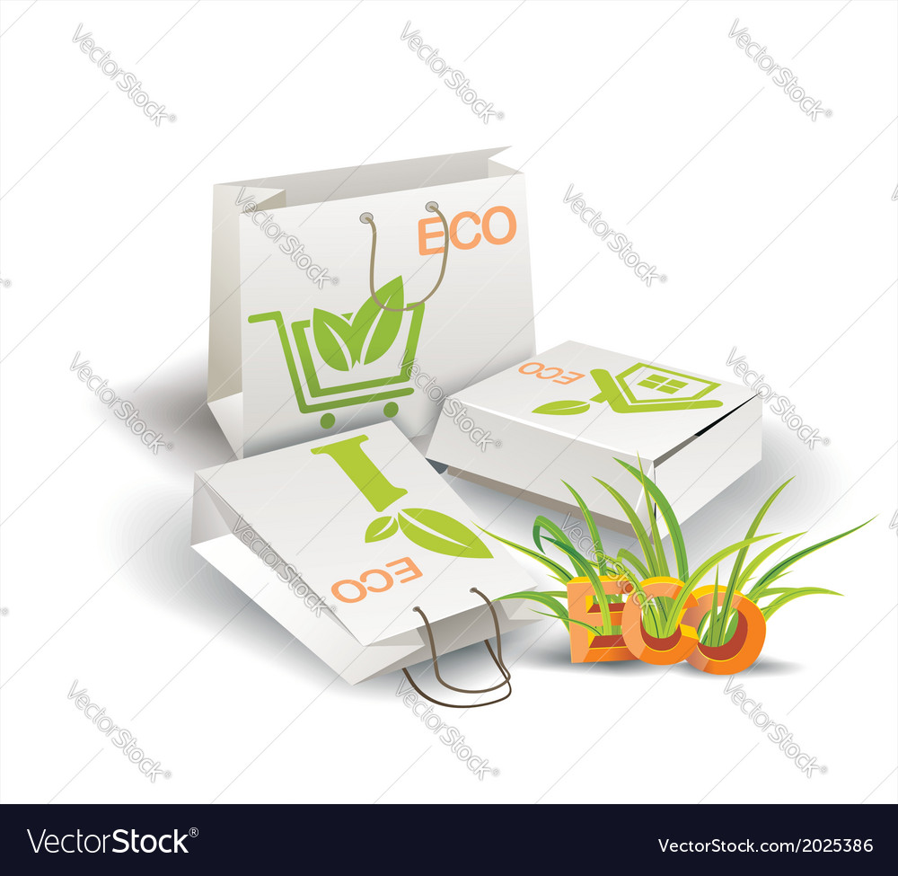 Eco product eco packing vector | Price: 1 Credit (USD $1)
