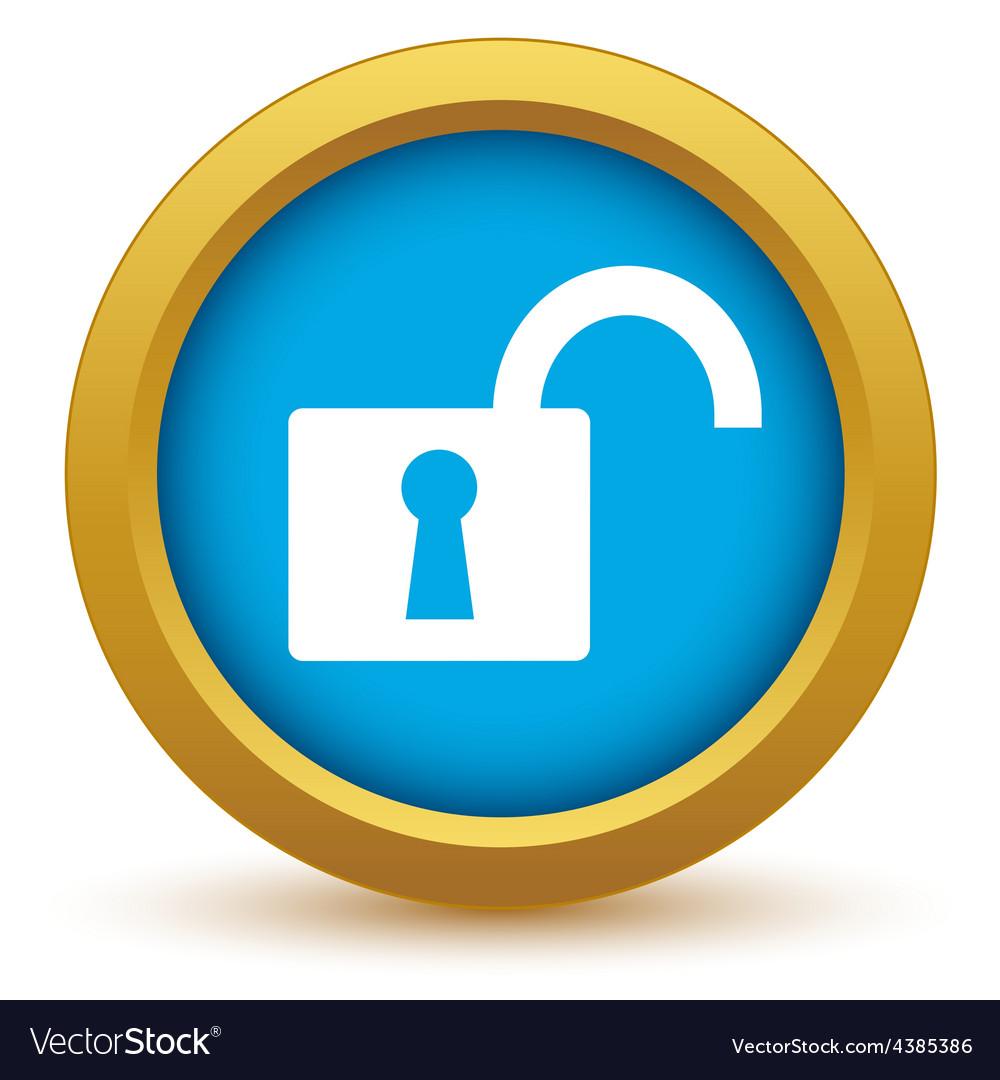 Gold unlock icon vector | Price: 1 Credit (USD $1)