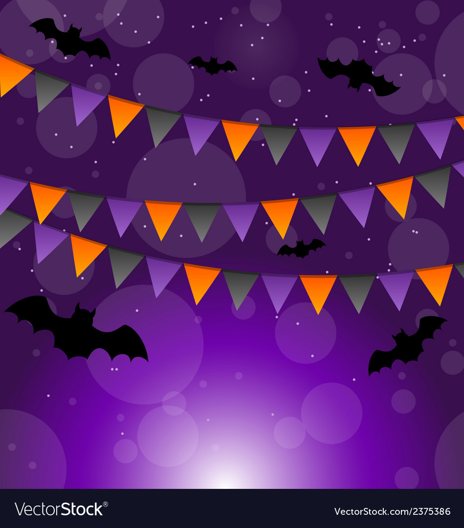Halloween background with hanging flags vector | Price: 1 Credit (USD $1)