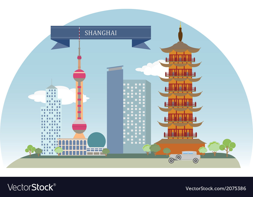 Shanghai vector | Price: 1 Credit (USD $1)
