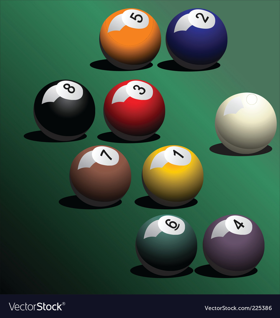 Snooker pool ball vector | Price: 1 Credit (USD $1)