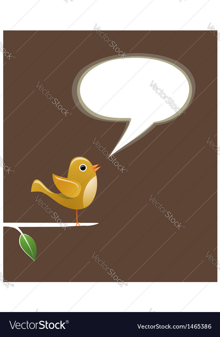 Social media bird speech love vector | Price: 1 Credit (USD $1)