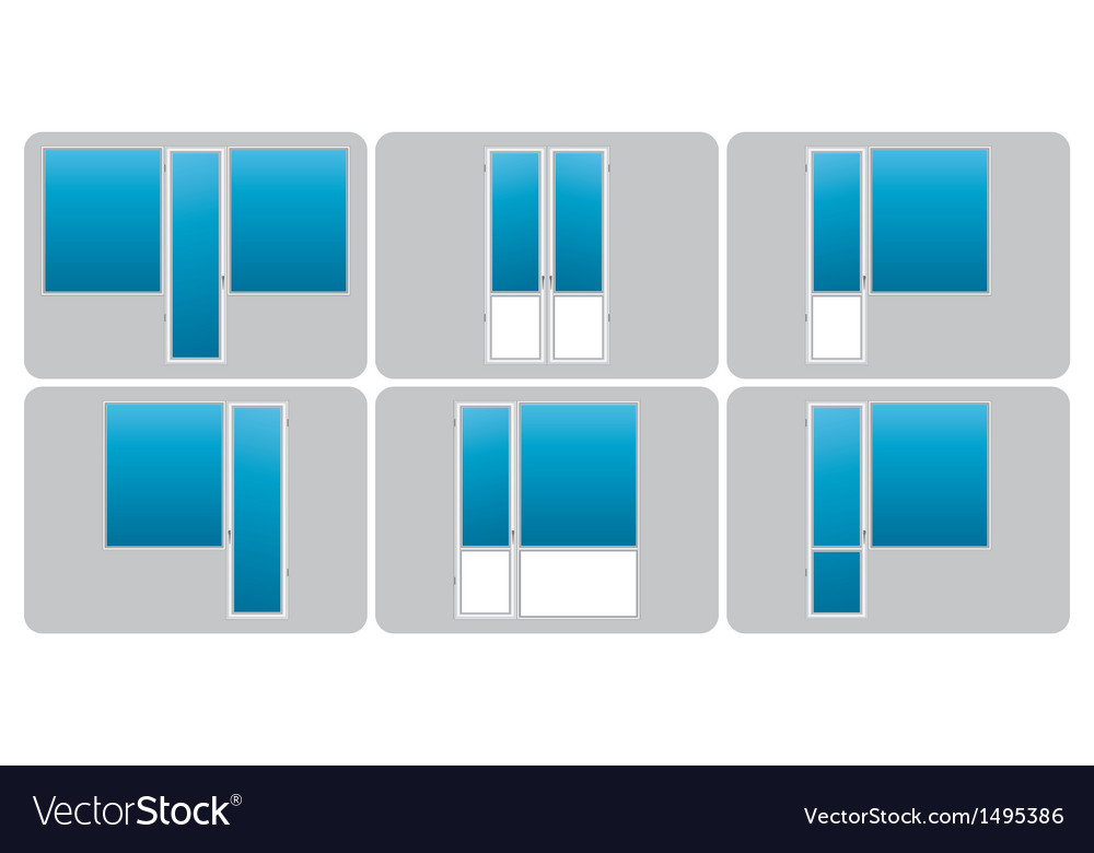 Types of balconies vector | Price: 1 Credit (USD $1)