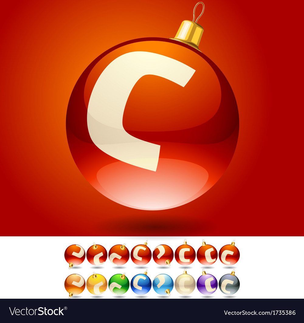 Ultimate set of alphabet font symbols on christmas vector | Price: 1 Credit (USD $1)