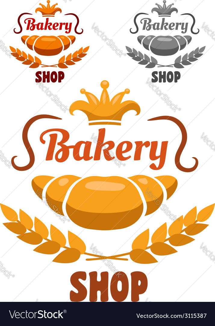 Bakery shop badge or label vector | Price: 1 Credit (USD $1)
