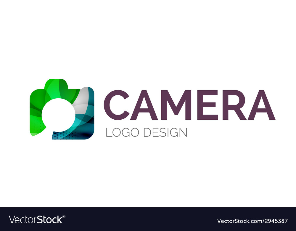 Camera logo design made of color pieces vector | Price: 1 Credit (USD $1)