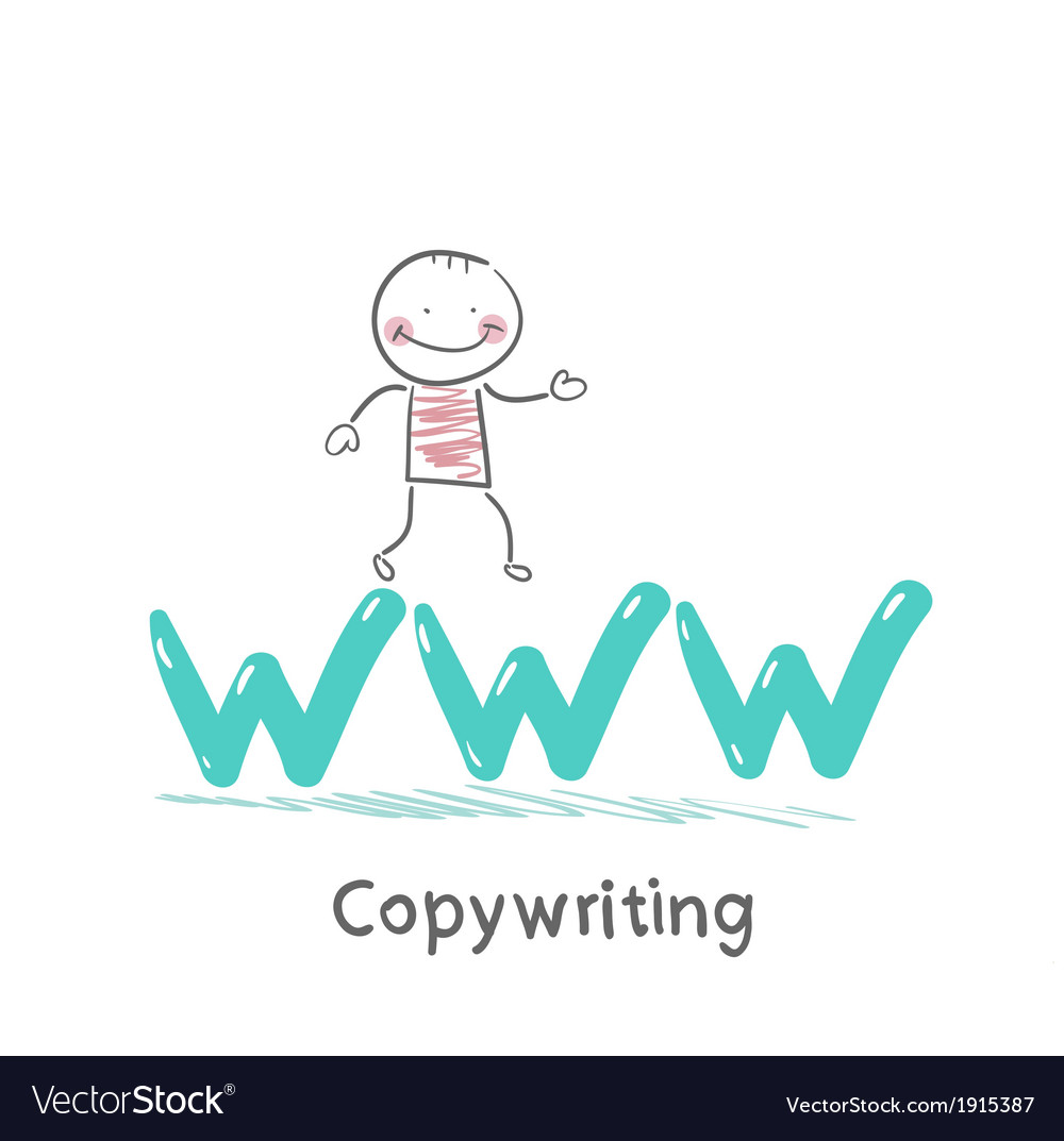Copywriters is on the letters www vector | Price: 1 Credit (USD $1)