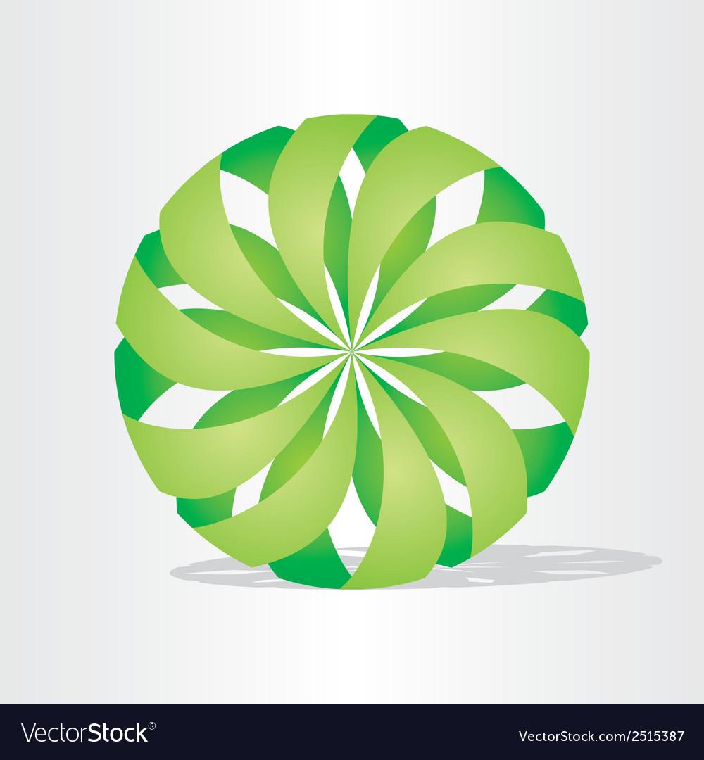 Green eco ball design vector | Price: 1 Credit (USD $1)