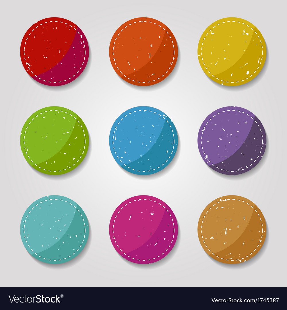 Grungy buttons vector | Price: 1 Credit (USD $1)