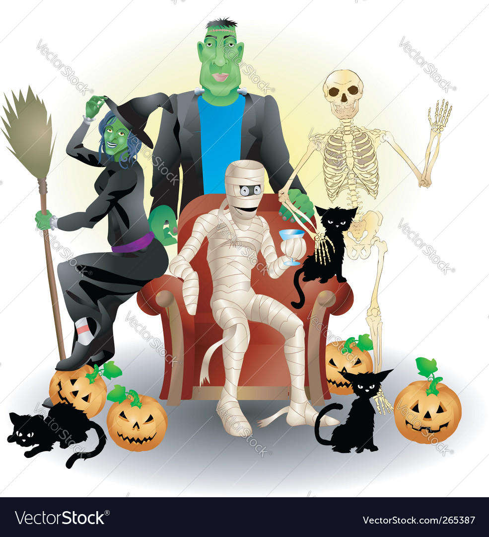 Halloween group vector | Price: 3 Credit (USD $3)