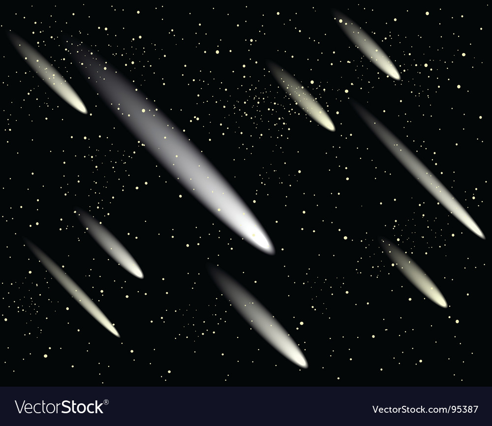 Meteor shower vector | Price: 1 Credit (USD $1)