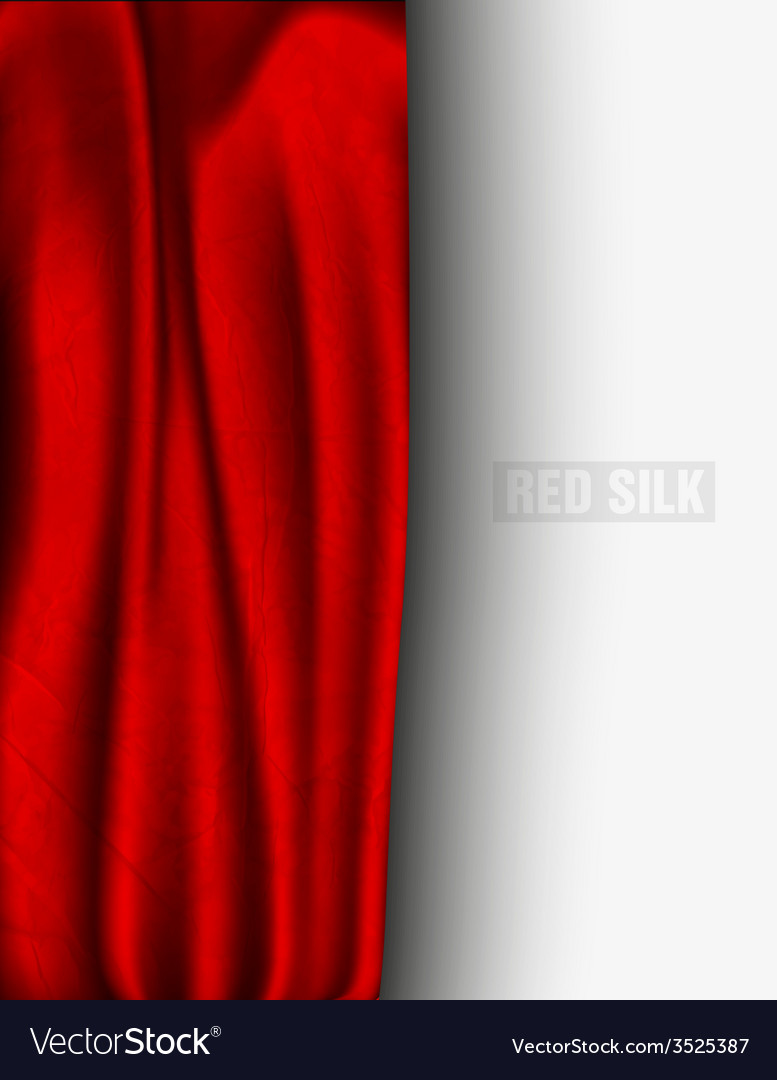 Red silk with a shadow vector | Price: 1 Credit (USD $1)