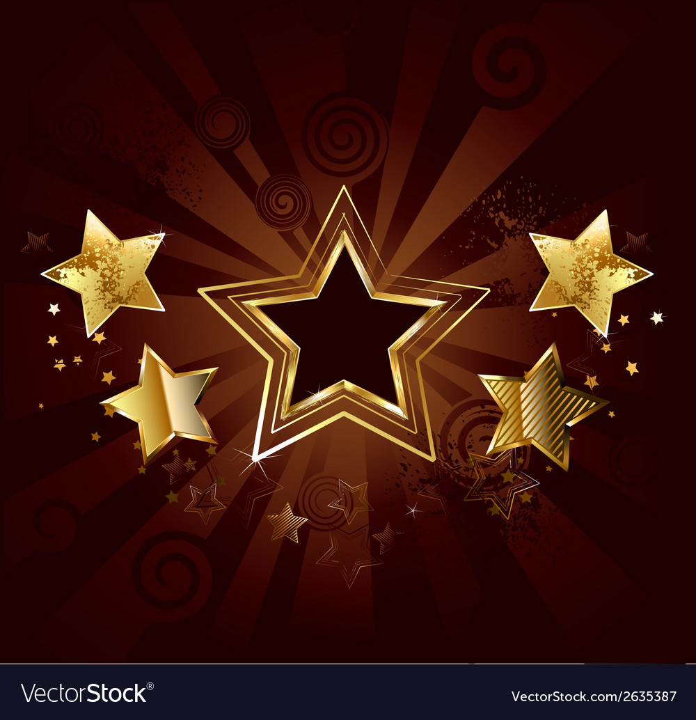 Star on a brown background vector
