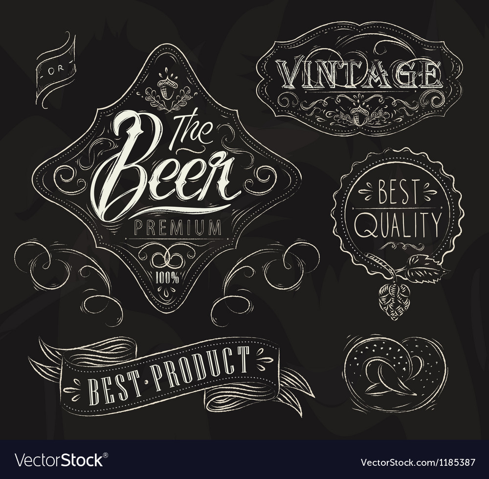 Vintage elements for bar vector