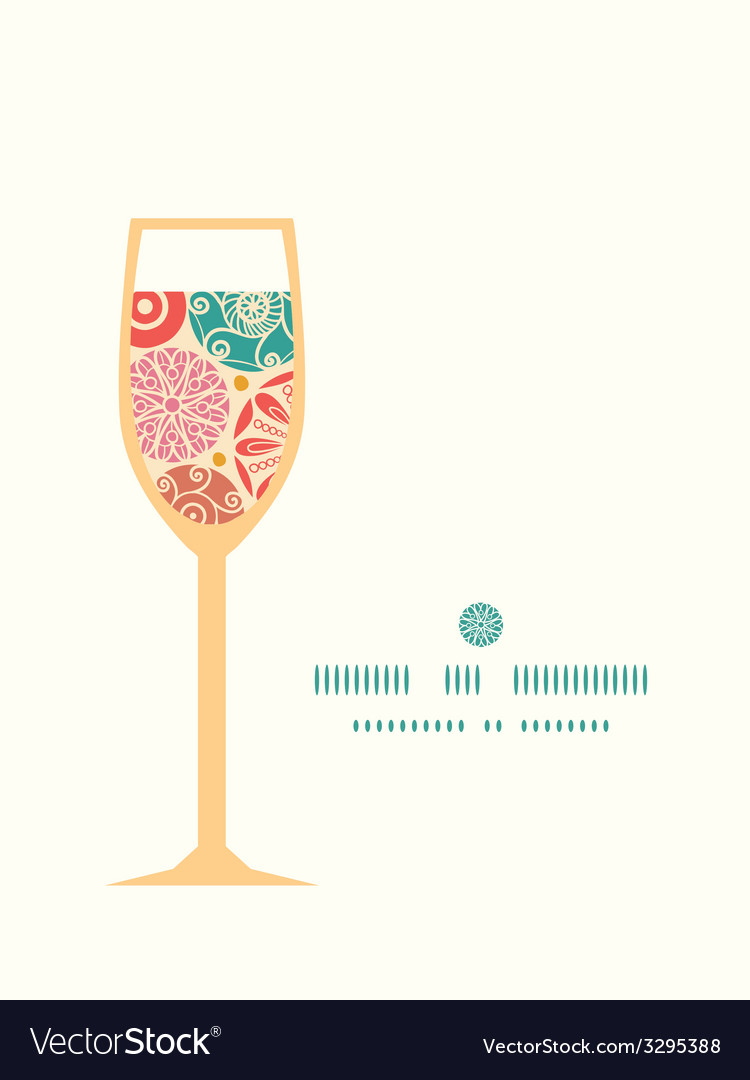 Abstract decorative circles wine glass silhouette vector   Price: 1 Credit (USD $1)