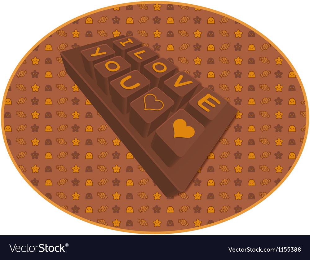 Big chocolate bar valentine character design vector | Price: 1 Credit (USD $1)