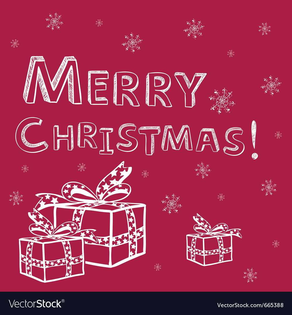 Christmas card colorful vector | Price: 1 Credit (USD $1)