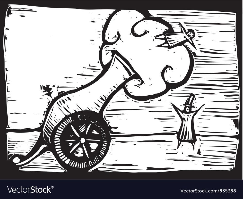 Circus cannon vector