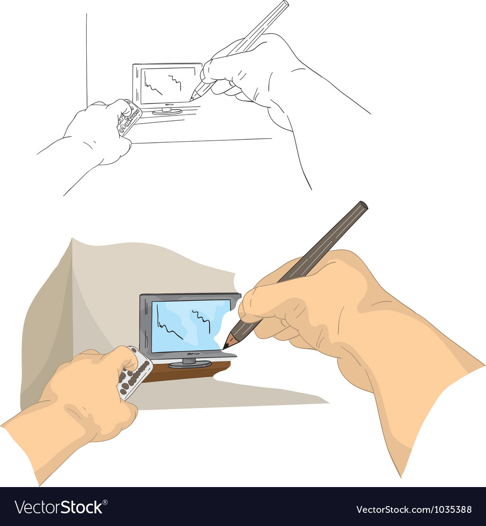 Drawing tv vector | Price: 1 Credit (USD $1)