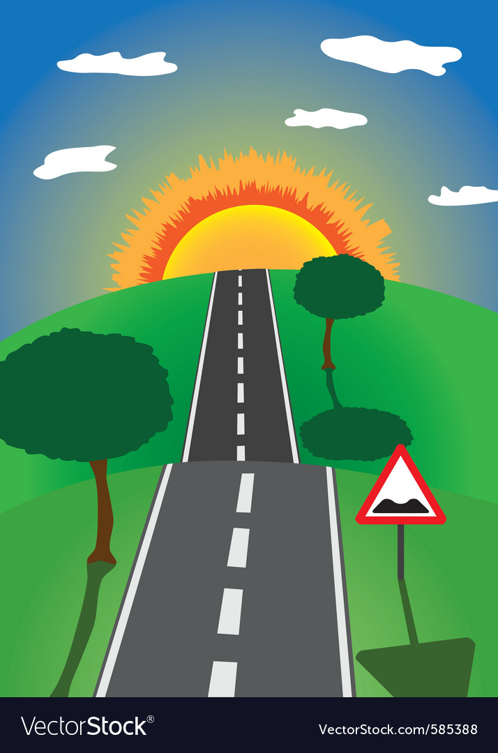 Road to the horizon vector | Price: 1 Credit (USD $1)