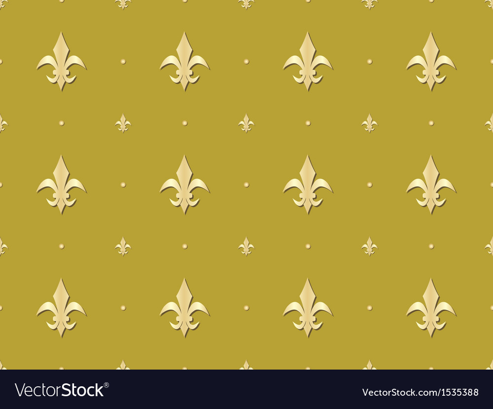Seamless pattern with royal lilies vector | Price: 1 Credit (USD $1)