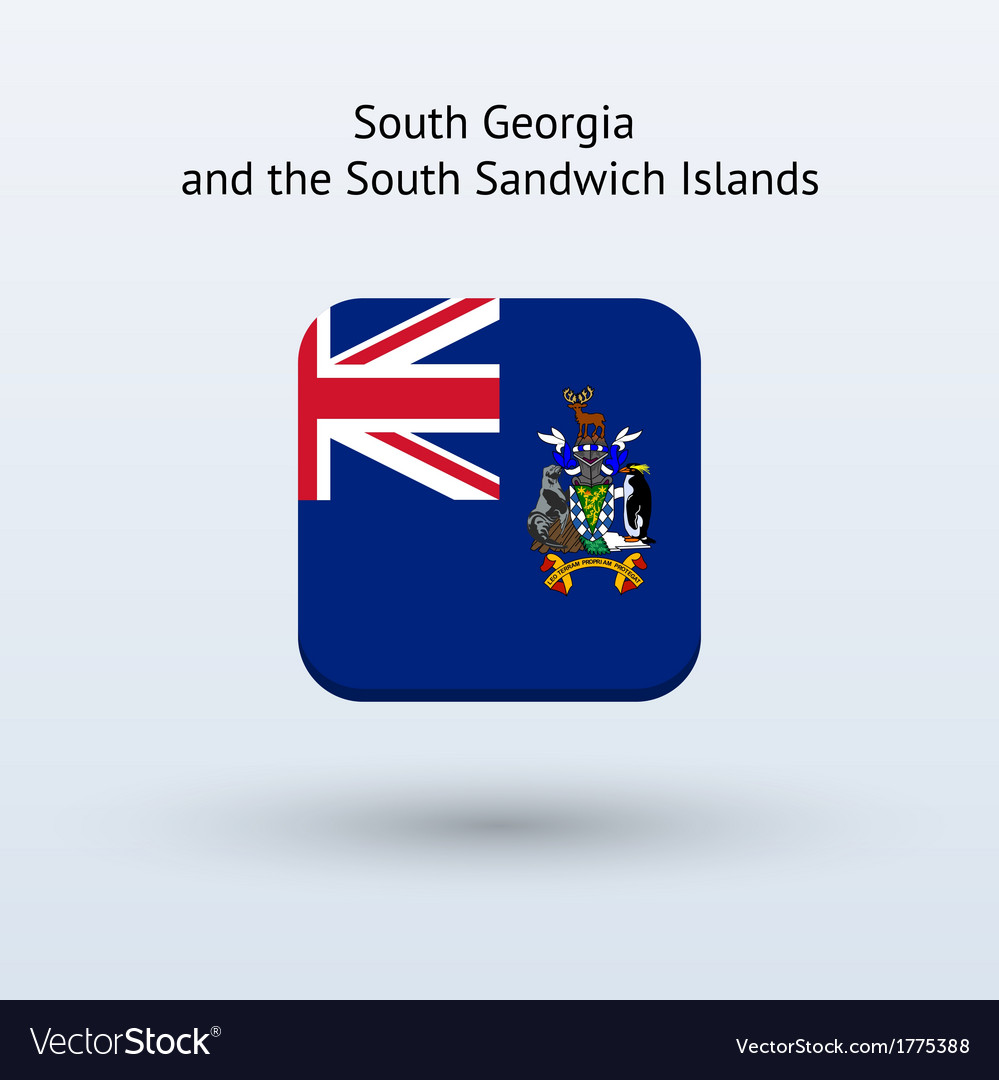 South georgia and south sandwich islands flag icon vector | Price: 1 Credit (USD $1)