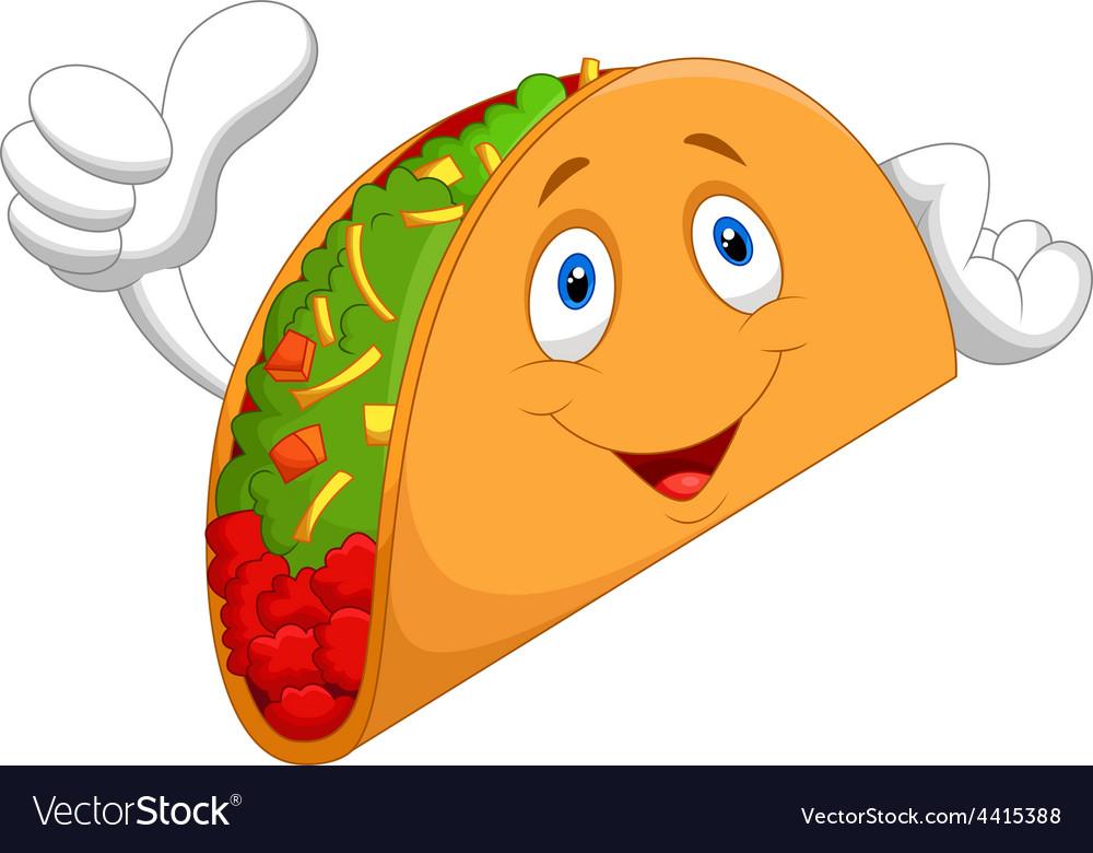 Taco cartoon giving thumb up vector | Price: 1 Credit (USD $1)