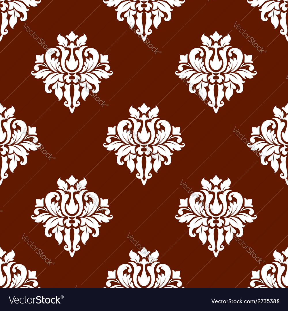 White colored floral seamless pattern vector | Price: 1 Credit (USD $1)