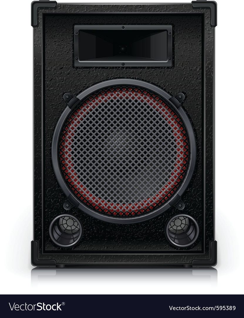 Audio speaker vector | Price: 3 Credit (USD $3)