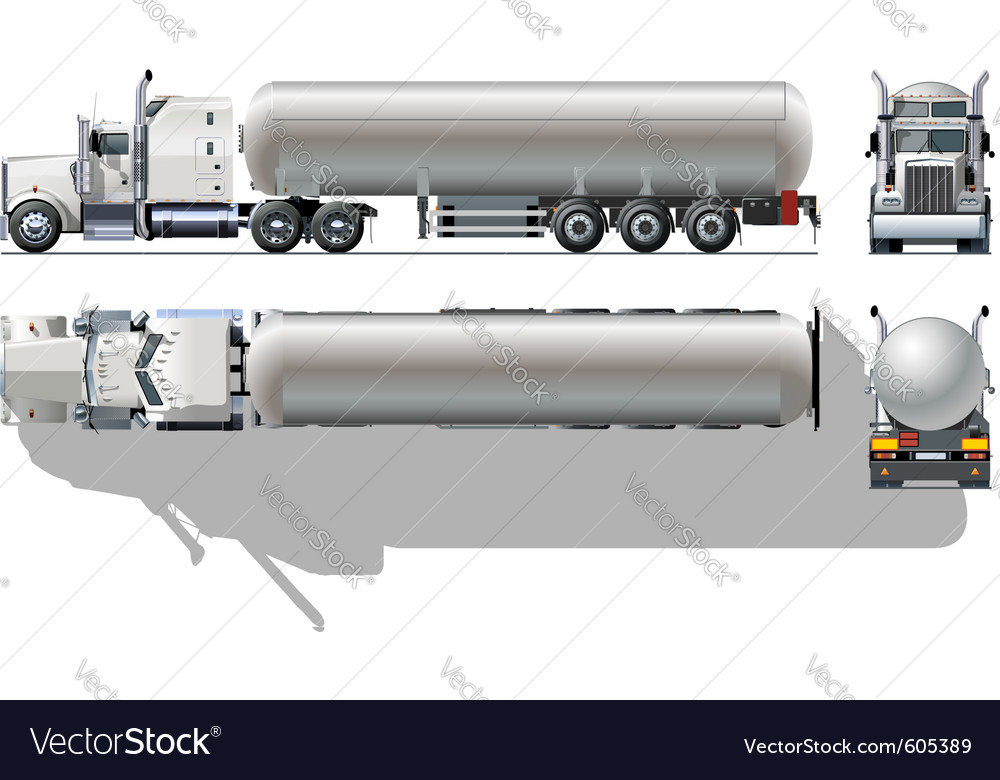 Detailed tanker truck vector | Price: 3 Credit (USD $3)