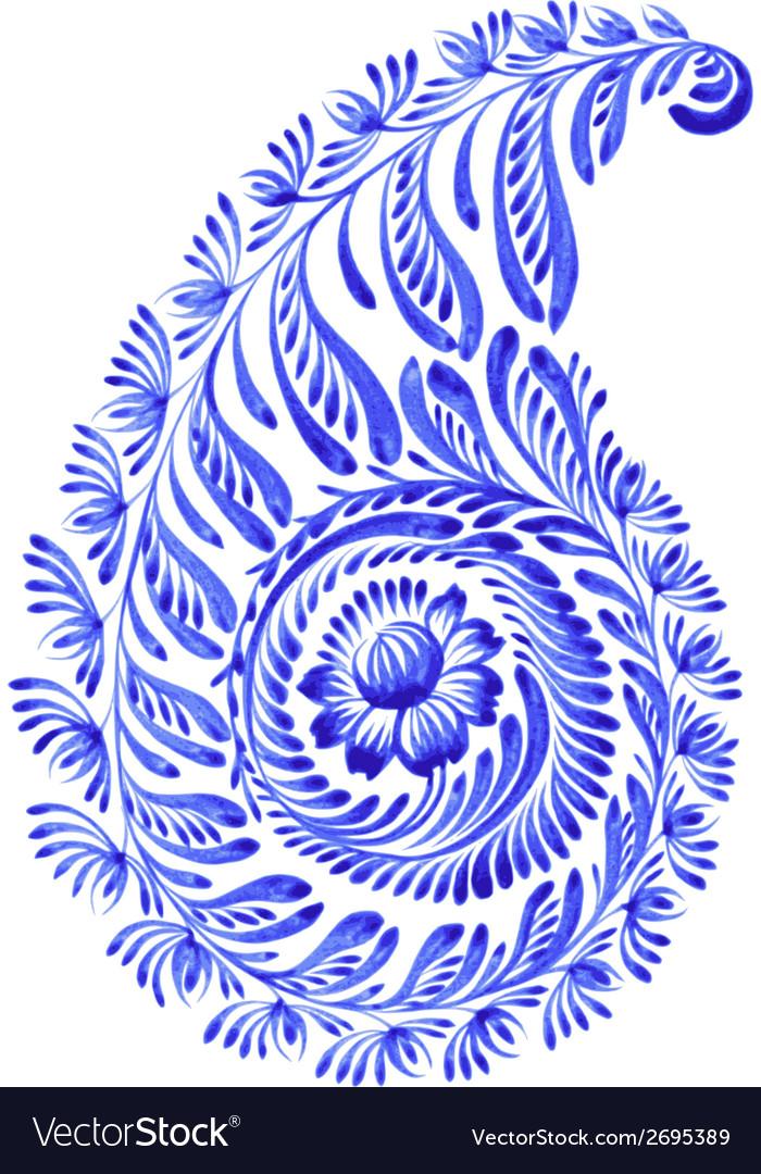 Floral decorative ornament paisley vector | Price: 1 Credit (USD $1)
