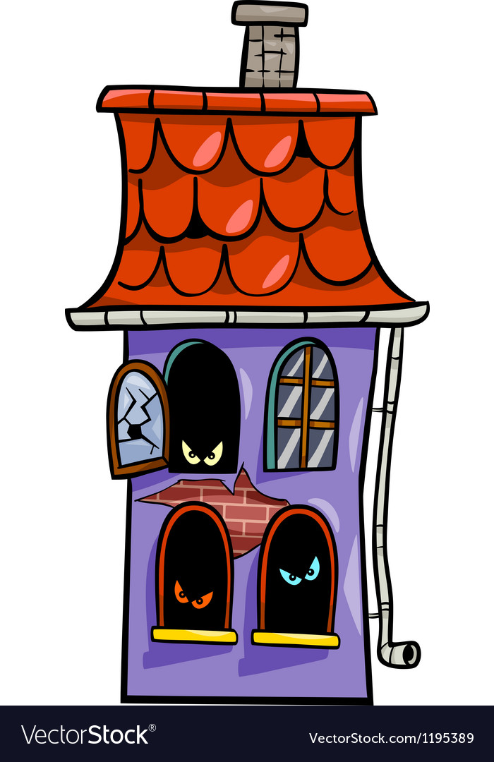 Haunted house cartoon vector | Price: 1 Credit (USD $1)